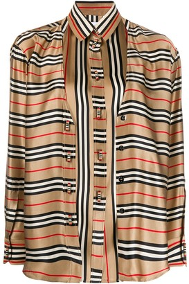 Burberry double-layer Icon Stripe shirt