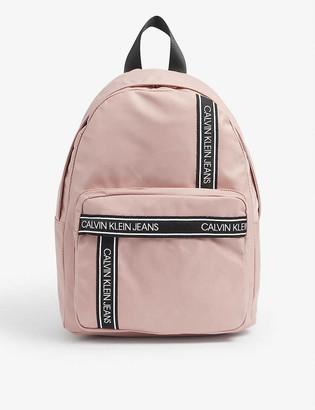 Calvin Klein Jeans Kids tape-logo nylon backpack