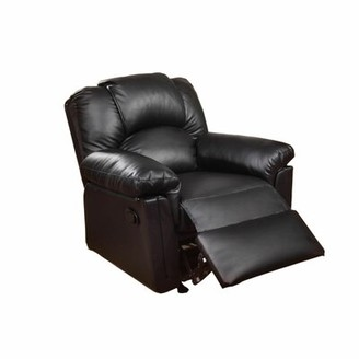Lacoste Manual Rocker Recliner Alcott Hill Fabric: Black