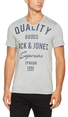 Jack and Jones Men's 12122152 Crew Neck Short Sleeve T - Shirt - Grey - Small