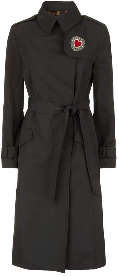 Dolce & Gabbana Embellished Trench Coat