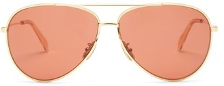 Celine Aviator Metal Sunglasses - Red Gold