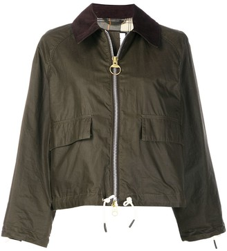 Barbour x Alexa Chung cropped waxed jacket