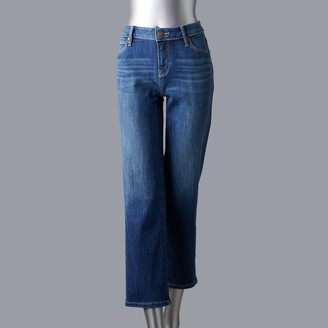 Vera Wang Women's Simply Vera Cropped Straight-Leg Jeans