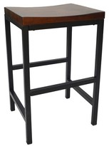 "Nobrand No Brand Ira 24"" Counter Stool Metal/Chestnut"