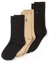 Ralph Lauren 3 Pack Dress Socks - Boys 4-7