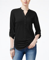 Almost Famous Juniors' Lace-Back Utility Tunic