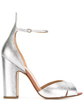 Francesco Russo textured sandals - women - Leather - 38