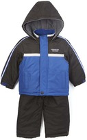 London Fog Blue Puffer Coat & Black Snow Suit - Infant Toddler & Boys