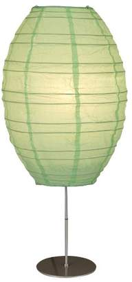 Osaka 1 Light Table Lamp Shade Colour: Green