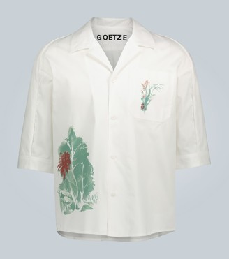 Goetze Ted printed cotton shirt