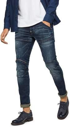 G Star 5620 3-D Zip Knee Skinny Fit Jean in Wave Destroyed