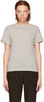 A.P.C. Ecru Striped Malia T-Shirt
