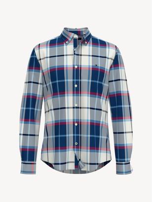 Tommy Hilfiger Custom Fit Essential Plaid Stretch Shirt