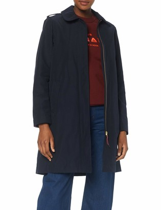 Scotch & Soda Maison Women's Technical Trenchcoat with Zip Closure Jacket