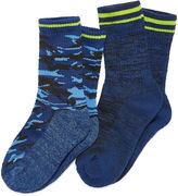Cuddl Duds 2-pk. Climate Smart Camo Socks- Boys