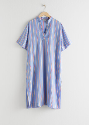 And other stories Striped Lyocell Shirt Dress