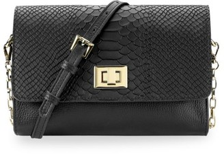 GiGi New York Catherine Python-Embossed Leather Crossbody Bag