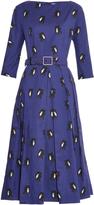 Osman Scarlet Pocahontas-print cotton dress