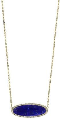 Effy 14k Yellow Gold, Lapis Diamond Pendant Necklace