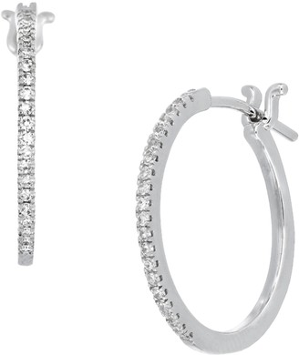 Carriere Sterling Silver Diamond Huggie Hoop Earrings - 0.18 ctw