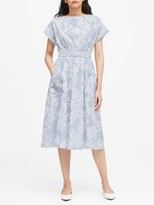 Banana Republic JAPAN EXCLUSIVE Poplin Fit-and-Flare Dress