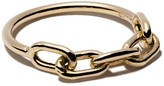 Chicco Zoë 14kt yellow gold square oval link chain ring