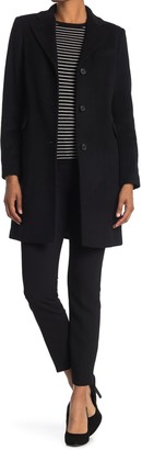 Lauren Ralph Lauren Reefer Felted Wool Blend Coat