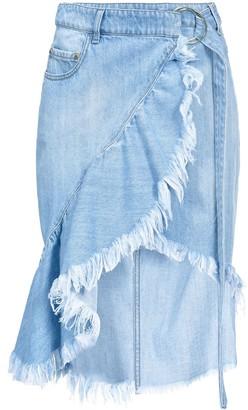 Pinko Midi Denim Skirt