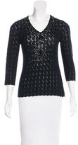 Carolina Herrera Embellished Cashmere Sweater