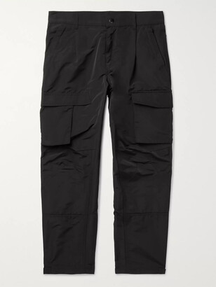 Givenchy Black Tapered Taffeta Cargo Trousers