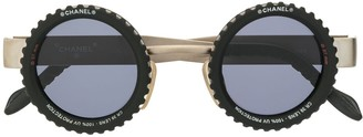 Chanel Pre Owned Round Sunglasses