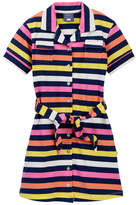 Toobydoo Lime Rock Striped Belted Shirtdress (Toddler, Little Girls, & Big Girls)