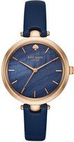 Kate Spade Women's Holland Blue Leather Strap Watch 34mm KSW1157