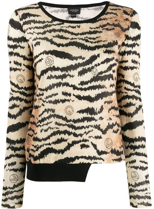 Giambattista Valli Tiger Print Jumper