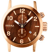 Brera Isabella Rose Golden Brown Mother-of-Pearl Dial Chronograph