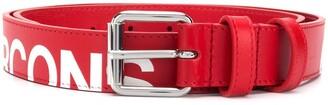 Comme des Garcons Cut-Off Logo Leather Belt