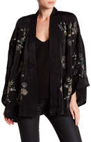 Romeo & Juliet Couture Dolman Sleeve Embroidered Shawl