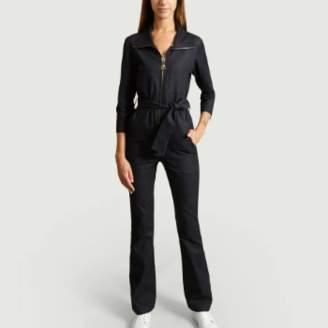 Carolina Ritzler Denim Cotton Emma Peel Jumpsuit - 36 | cotton | denim - Denim
