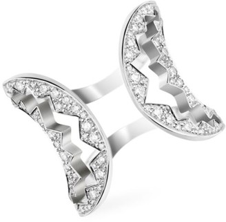 Akillis Capture Me 18K White Gold & Diamond Open Ring