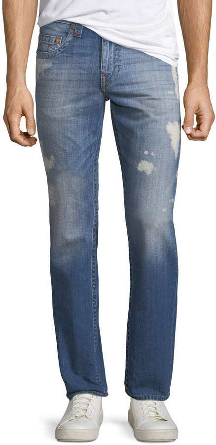 ac8004671 True Religion Blue Men s Distressed Jeans - ShopStyle