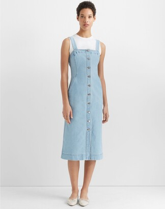 Club Monaco Denim Button Front Dress