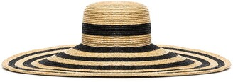 Maxi striped straw hat
