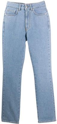 Chiara Ferragni flirting embroidered slim fit jeans