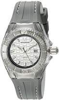 Technomarine Women's Quartz Watch with Silver Dial Analogue Display and Grey Silicone Strap TM-115157