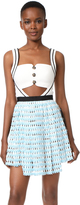 Self-Portrait Self Portrait Cutout Mini Dress