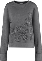 See by Chloe Embroidered cotton-jersey sweater