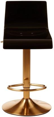 Premier Housewares Baina Bar Stool- Black/Gold