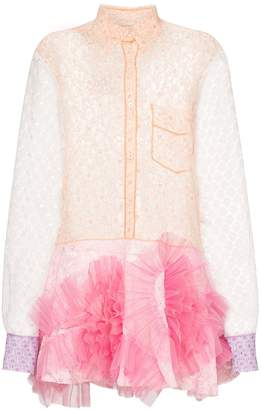Viktor & Rolf swirl lace mini dress