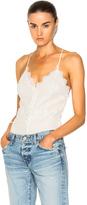 Jonathan Simkhai Threaded Tulle Lace Bodysuit